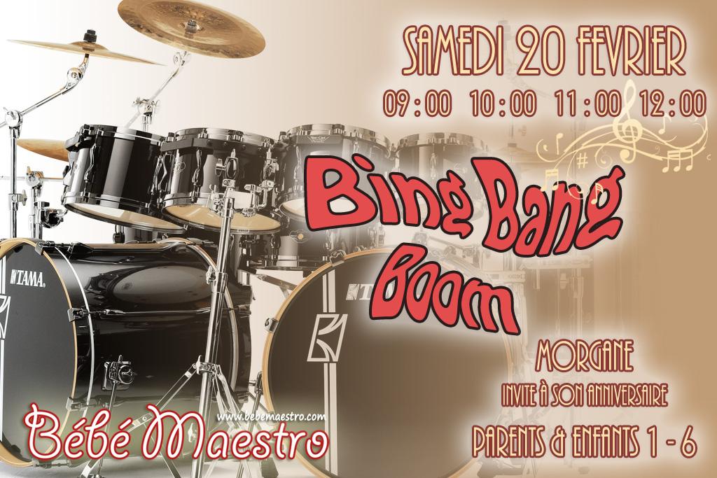 Samedi 20 Février - Bing Bang Boom - Extra séance musicale