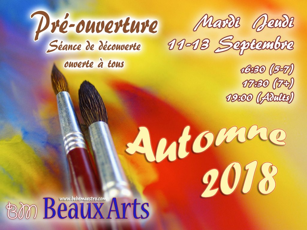 Tuesday Thursday 11-13 September - Beaux-Arts - Pre-opening