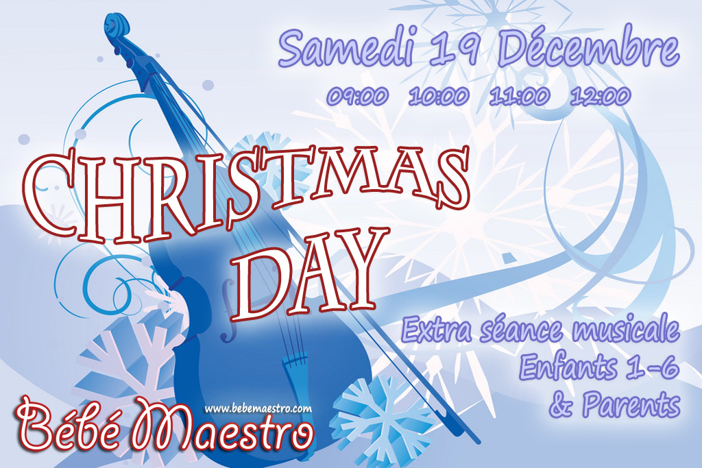 Saturday 19 December - Christmas Day - Extra Music class for all
